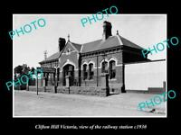 OLD LARGE HISTORIC PHOTO OF CLIFTON HILL VICTORIA, THE RAILWAY STATION 1930