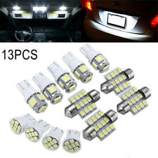 13Pcs/Set Car White LED Light Kit for Stock Interior Dome License Plate Lamps US