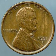 1921-S Lincoln Cent Extra Fine Condition
