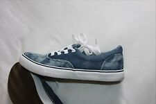 Bleached denim, skate style, lace up shoes - size 7