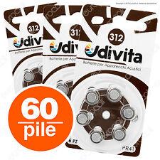 60 Batterie Pile Udivita 312 Apparecchi Acustici PROTESI Acustiche udito PR41