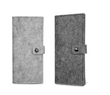 Wool Passport Cover Clutch Wallet Felt Card Holder Eco Friendly 2 Colors