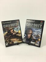 PS2 Games LOT - Call Of Duty 1 2 Finest Hour Big Red One