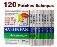 Salonpas 120 Patches Hisamitsu Pain Relief HEAT  6.5x4.2cm - Backache arthritic