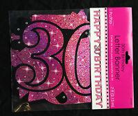 Grand 30th anniversaire Bannière lettre Rose Décoration pour fête âge 30 ans