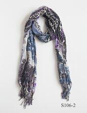 Elegant soft women Lightweight Floral flower Paisley scarves.