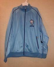 Argentina Men's Soccer Full Zip Track Jacket size Large Light Blue
