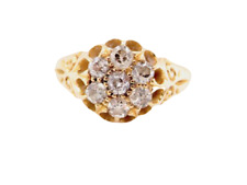 18ct gold vintage antique diamond cluster ring size P Chester 1919