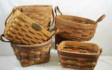 Longaberger Mix lot of 5 Baskets A010