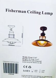 ceiling light Fisherman Classic Rusty Look
