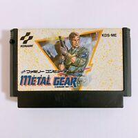 METAL GEAR Nintendo Famicom FC NES Japan game Tested Working