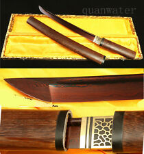21'ROSE WOOD DAMASCUS FOLDED STEEL RED BLADE JAPANESE SWORD TANTO VERY BEAUTIFI