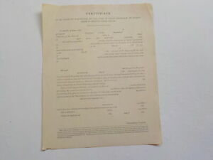 Civil War Unused Document Discharge Certificate For Soldier Antique No Writing N