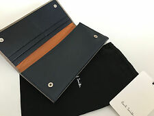 Paul Smith Grand Sac À Main Galets Cuir Taupe Bleu & Orange Made in Italy