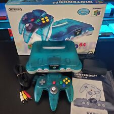 Nintendo 64 N64 Ice Blue Clear Funtasic Console Complete CIB Boxed Region-Free 2