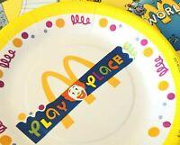 Vintage McDonald's Ronald McDonald Play Place Birthday Party Paper Plates NOS