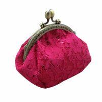 Women Wallet Retro Coin Purse Vintage Lace Wallets Hasp Purse Clutch Pouch Bags