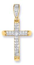 Oro Colgante De Cruz Pavé Cruz Oro Amarillo Cruz