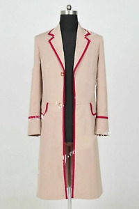 Who Is Doctor The Fifth Dr Peter Davison Cosplay Coat Jacket costume Custom Made