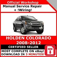 FACTORY WORKSHOP SERVICE REPAIR MANUAL HOLDEN COLORADO 2008-2012 +WIRING