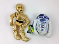 Vintage nwt 1997 Lot of 2 Star Wars Droid Plush Buddy Buddies 1997 C-3PO R2-D2