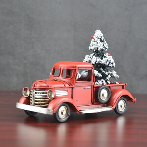 Vintage Metal Classic Rustic Pickup Truck Christmas Tree Home Decor High Detail