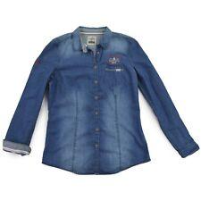 GAASTRA Damen Bluse L 40 Jeanshemd blau Oberteil Woman Shirt Top wie NEU
