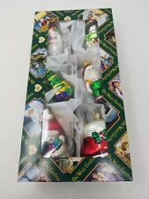 """VTG 6 FIGURAL GLASS CHRISTMAS ORNAMENT 1 from Poland  NICE 2.5-3"""""""