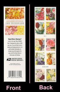 US 5051b Botanical Art forever booklet 10 MNH 2016