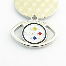 10pcs NFL Pittsburgh Steelers Dangle Charms Fit DIY Bracelet Key chain Jewelry