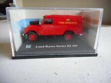 "Hongwell Cararama Land Rover Series III 109 ""Fire Brigade""  6 cm long + box"