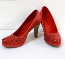 Escarpins cuir rouge Grands Boulevards t. 37