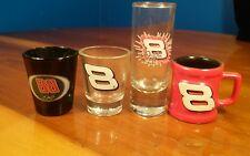 Set of 4 NASCAR Dale Earnhardt Jr. Collector's shot Glasses Assorted Styles
