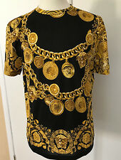 NWT Versace Baroque Medusa Limited Mens T-Shirt XL Black Gold Tee Authentic $675