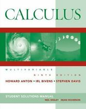 Calculus Multivariable, Student Solutions Manual by Anton, Howard, Bivens, Irl