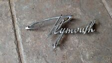 Plymouth Belvedere Tail Panel Emblem 1961 Only