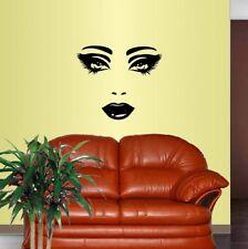 Vinyl Decal Beautiful Girl Woman Face Make Up Beauty Salon Wall Sticker 1893