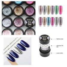 Glitter Gel Nail Polish Set Platinum Painting Nails Art UV Poly Shimmer Top Base