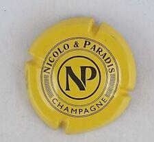capsule champagne NICOLO ET PARADIS n°4 jaune et noir