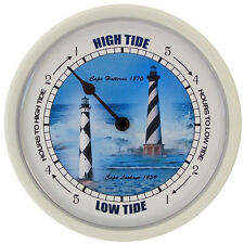 TIDE CLOCK Cape Lights Dial #243W with white plastic frame