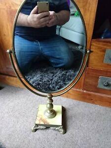 English peerage Vintage Brass Adjustable Vanity Table Mirror