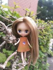 """4.3"""" Mini Neo Blythe Doll Nude Doll from Factory Golden Staight Hair + A Dress"""