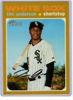 Tim Anderson 2020 Topps Heritage 5x7 Gold #436 /10 White Sox