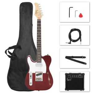 Glarry GTL Left Handed Semi-Hollow Electric Guitar Package - HS Pickups Tele Red
