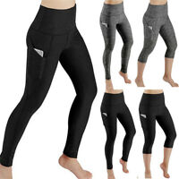Women Leggings Fitness Sports Gym Running Yoga Workout Out Pocket Athletic Pants