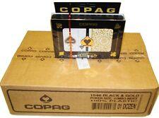 COPAG 1546 Black & Gold Poker Cards -  Super Index - Case - 12 Double Decks
