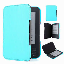QW Sky Blue Slim Leather Protector Pouch Case Cover For Amazon Kindle Keyboard