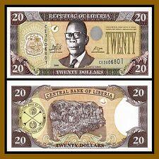 Liberia 20 Dollars, 2009 P-28e Unc