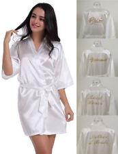 Satin Silk Personalized Wedding Bathe*Robe*Bridesmaid Bride Mother Dressing Gown