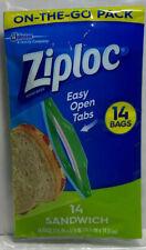 Ziplock Sandwich Bags On-The-Go Pack - 14 Ct